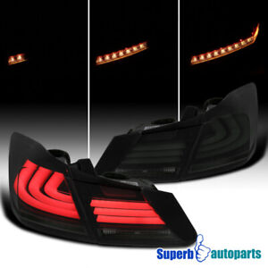 For 2013-2015 Honda Accord Sequential LED DRL Strip Signal Tail Lights Smoke