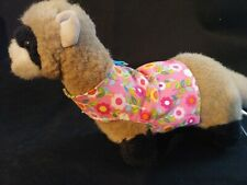 Ferret Harness - Pink With Colorful Flowers - M/L