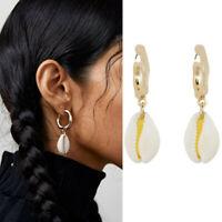 2019 Fashion Women Natural Shell Pendant Statement Dangle Drop Earrings Jewelry