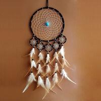 "Handmade Dream Catcher Net Feather Bead Hanging Decoration Ornament 29.5"" Gift"