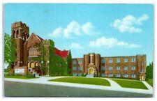Mid-1900s First Lutheran Church, 31st and Jackson, Omaha, NE Vintage Postcard