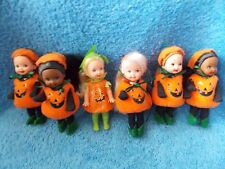 Lot of 6  Barbie  Kelly Doll  Pumpkin  Your own Pumpkin Patch