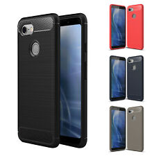 Rubber Slim Shockproof Bumper Case Cover for Google Pixel 2 XL/3A XL/3 XL/4 XL