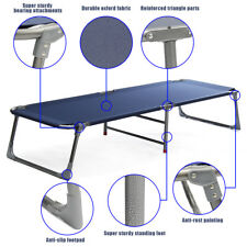 Foldable Camping Bed Stretcher Light Weight Carry Bag Camp Portable Camping Cot