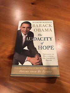 Barack Obama Audacity Of Hope Signed Auto No COA