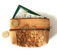 Cork Purse Wallet Coin Bag Minimalist Durable Eco Friendly Gift Women Vegan