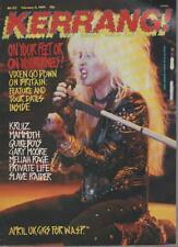 KERRANG MAGAZINE  NO 225  FEBRUARY 11 1989  GARY MOORE    LS