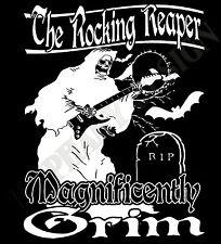 Psychobilly T-Shirt Metal Gothic T-Shirt 3XL 4XL 5XL The Rocking Grim Reaper