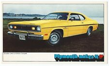 1970 Plymouth Duster 2-Door Coupe Original NOS Vintage Dealer Promo Postcard