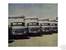 Altes Blechschild Oldtimer LKW Mercedes Benz 710 911 1113 Typ 323 gebraucht used
