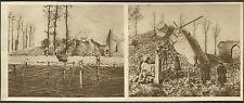 DIXMUDE LAMPERNISSE DESTRUCTION EGLISE PAR LES BELGES IMAGE DE 1916