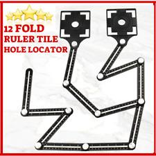 12 Folding Tile Hole Locator Adjustable Multi-Angle Ruler Measuring Glass fixed