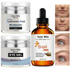Best Skin Care Kit-Eye Moisturizer Gel+ Hyaluronic Acid Cream+Snail Repair Serum