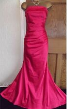 EXQUISITE ❤️ RRP £80 JANE NORMAN Size 10 12  Pink Long  Mermaid Dress Ball Gown