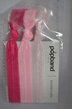 Sealed Popband London Essentials set of 3 stretch hair bands in pink RRP £3.50