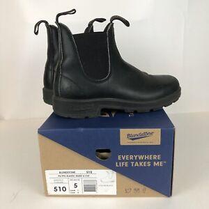 Blundstone 510 Voltan Black Leather Chelsea Boots Size UK 5 US Womens 8 Mens 6