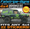 4x4 OFFROAD CAR GRAPHICS KIT FUNNY STICKERS DECALS DEFENDER DISCOVERY JEEP