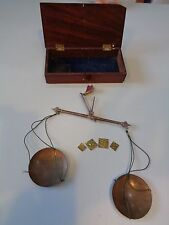 VINTAGE APOTHECARY SCALES WEIGHTS JEWELLERY BOXED PHARMACY