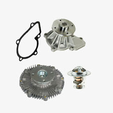 Water Pump Fan Clutch Thermostat Kit for Nissan Frontier Xterra Pickup D21 (3pc)