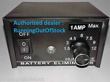 Battery Charger Eliminator 1 Amp 1.5 - 12 volt Charger power supply, Full Copper