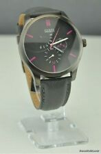 NWT Watch GUESS Black Leather Tron GUESS  Men New U12639G1