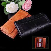 Women Lady PU Leather Clutch Hollow Long Wallet Card Money Holder Purse Handbag