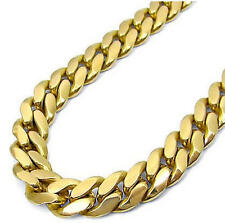 Hip Hop 14K Gold Plated Miami Cuban Link Chain Necklace Heavy 16mm 30""