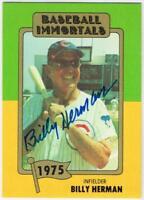 Original Autograph PSA/DNA of Billy Herman on a Baseball Immortals Card