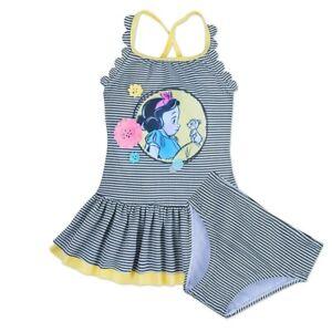 Disney Store Snow White Animators' Collection Swimsuit Two Piece Girl's Swimwear