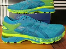 RARE Asics Gel Kayano 25 Blue Neon Green Volt 12 1011A019 300 Mens Running Shoes