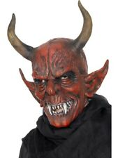 Devil Demon Mask Adult Mens Smiffys Fancy Dress Masks