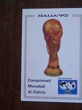 Vecchia foto cartolina d epoca dei Campionati Mondiali di Calcio Italia 90 coppa