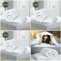 LUXURY HOTEL QUALITY COTTON DUVET QUILT 4.5 10.5 13.5 15 TOG DOUBLE KING SIZE