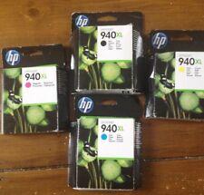 HP 940XL BLACK CYAN YELLOW MAGENTA C2N93AE BNIB DATE EXPIRED INK SET