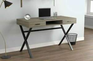 "Computer Desk 48"" / 2 Drawers + 1 Shelf"