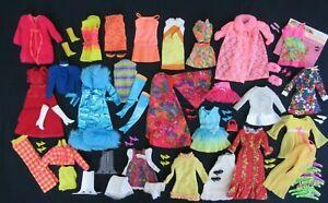 AUCTION Vintage BARBIE - Large Lot - Mod Outfits Clothing Shoes Accessories