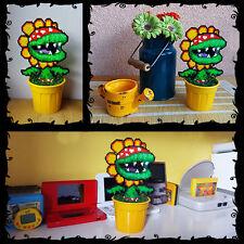 "Super Mario Petey Piranha Plant Figure 8 bit Toy Decoration in Pot Pixel Art 8"""