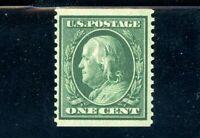 USAstamps Unused VF US 1909 Franklin Coil Scott 352 OG MNH