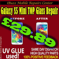 Samsung S5 MINI CRACKED BROKEN FRONT TOP GLASS SCREEN REPLACEMENT REPAIR SERVICE