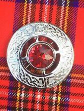 Kilt Fly Plaid Spilla Di Design Celtico RED STONE/Donna Scialle Spilla/Spilla/PINS
