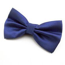 NOEUD PAPILLON en soie mélangée bleu roi pour homme - Men's roy blue Bowtie