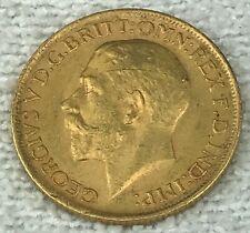 1917 S   FULL Gold Sovereign - King George V - UK British  -AU-  (.2354 AGW)
