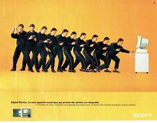 Publicité Advertising 087  1998  Sony   appareil numérique Digital Mavica