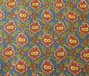 Circa 1825 Bouquet Red/Blue Quilt Fabric - Half Yard