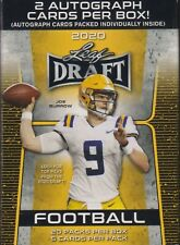 2020 Leaf Draft Football sealed Blaster box 20 packs of 5 cards 2 auto