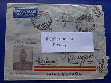 8051)  Viva Espana -  Posta Aerea 1940 Sevilla Viareggio Lucca