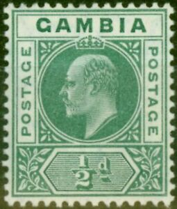 Gambia 1909 1/2d Blue-Green SG72 Fine & Fresh Mtd Mint