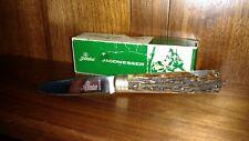 Beautiful Hubertus stag lock-back pocket  knife  mint with box