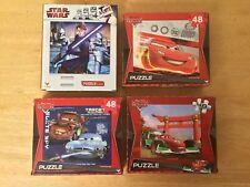 Disney Pixar Cars Puzzles / Star Wars Puzzle 48 Pieces (4 puzzles)