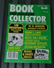 Book Collector 82 Jan 1991 Len Deighton Zane Grey Lillian Beckwith Beano & Dandy